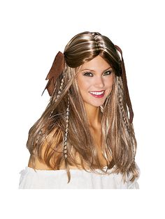 Wigs-Pirate 51182 Adult Pirate Wench Wig - Adult Pirate Wench Wig,    #,    #Hats,Wigs