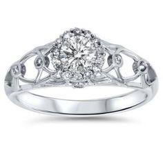 https://ariani-shop.com/55ct-vintage-halo-round-diamond-engagement-ring-14k-white-gold .55CT Vintage Halo Round Diamond Engagement Ring 14K White Gold