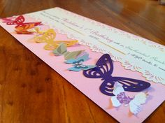 Hand made butterfly invitations :)