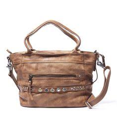 Noosa Amsterdam Bag Classic Shopper. Deze Noosa shopper / tas kan als schoudertas, maar ook als handtas gebruikt worden, met ruimte voor 5 chunks - Midbrown - NummerZestien.eu