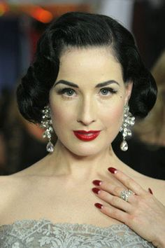 1930s nails http://keepyourpeckerup.files.wordpress.com/2011/12/dita-von-teese-nails.jpg