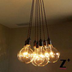 Design hanglamp bilbo met 7 koperkleurige bollen - Lampen ...