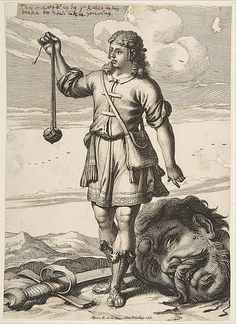 1651 Abraham Bosse | David with the Head of Goliath | The Met