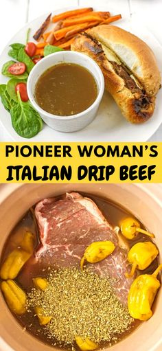 Pioneer Woman's Italian Drip Beef, it's what's for dinner and it's delicious, ENJOY! Pioneer Woman's Italian Drip Beef, it's what's for dinner and it's delicious, ENJOY! Roast Recipes, Slow Cooker Recipes, Crockpot Recipes, Cooking Recipes, Roast Beef Sandwich, Chicken Sandwich, Pioneer Woman Recipes, Pioneer Women, Pioneer Woman Roast Beef Recipe