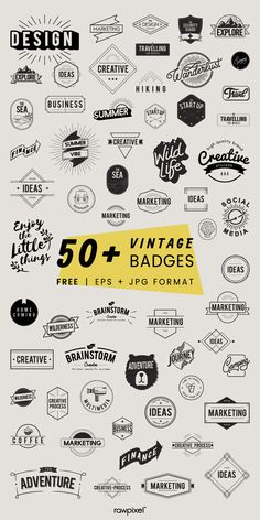 Download gorgeous vintage style badge vectors and many other amazing icons, illustrations and vectors at rawpixel.com Inspiration Logo Design, Icon Design, Vintage Logo Design, Vintage Style, Vintage Branding, Retro Vintage, Typography Design, Branding Design, Vector Logo Design