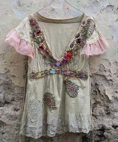 Petals and wineshand beaded embroidered bohemian by FleurBonheur, $178.00