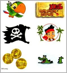 JAKE & the Never Land Pirates, Tattoo Sheets, Party Supplies, Canada