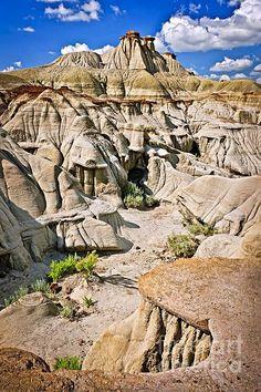The Badlands, Dinosaur Provincial Park, Alberta, Canada; photo by Elena Elisseeva