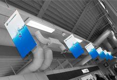 Takheng - Markedsmateriell.no Vi leverer takheng for utendørs og innendørs bruk og printer på alle mulige materialer i alle størrelser og formater. Beach Flags, Wall Banner, Roll Ups, Self Promotion, Marketing Materials, Welcome, Norway, Sailing, Advertising
