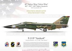 """UNITED STATES AIR FORCE : Manufacturer: General Dynamics / Model: F-111 F // USAFE 48th Fighter Wing """"Liberty Wing""""  492nd Fighter Squadron . 493rd Fighter Squadron . 494th Fighter Squadron  RAF Lakenheath, UK"""