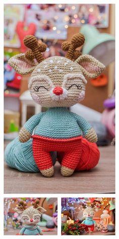 DK Knitting Pattern-Mignon Noël Character Toys Renne Santa Bonhomme de neige