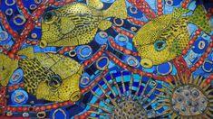 mosaic wall panel 2200 x 1200 Glass Ceramic, Mosaic Wall, Handmade Ceramic, Mauritius, Ceramics, Drawings, Artwork, Artist, House