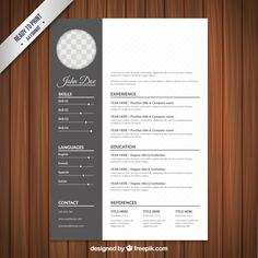 Curriculum-Vorlage im klassischen Stil – Curricula vitae creativi - Lebenslauf Modern Cv Template, Resume Design Template, Resume Templates, Cv Unique, Curriculum Template, Biodata Format, Business Resume, Graphic Design Resume, Web Design