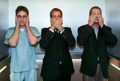 3 Wise Monkeys- Hear no evil, Speak no evil and See no evil. Palmer, DiNozzo and…