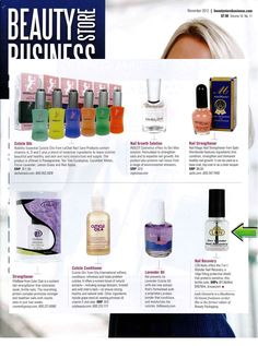 Thanks to Beauty Store Business for the great LCN mention! 7in1 Wonder Nail Recovery has been featured and photographed in the November edition! Check it out!