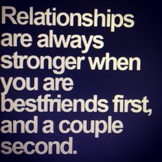 So so true, my husband & I were friends for years before we realised we should be together & wanted to spend the rest of our lives together. #soulmate #bestfriend #lover