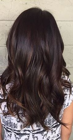 dark chocolate brunette hair color