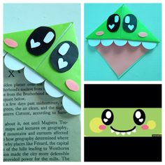 I found a cute bookmark idea and I decided to make a cute dinosaur one for my boyfriend. It's fun and simple also a cute kids craft. :) happy crafting!