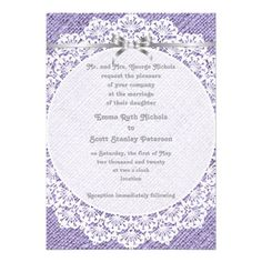Discount DealsWhite doily with lace and purple burlap wedding custom invitationYes I can say you are on right site we just collected best shopping store that have