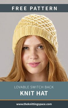 Fall Knitting Patterns, Easy Knitting Projects, Hat Patterns, Cable Knitting, Free Knitting, Headband Pattern, Knitting Accessories, Knit Beanie, Honeycomb