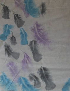 Feather heat press print for Fashion or Textiles wares.