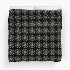'Chic Green & Gold Asian Pattern' Duvet Cover by HavenDesign College Dorm Bedding, Duvet Insert, Green And Gold, Duvet Covers, Asian, Chic, Stylish, Unique, Pattern
