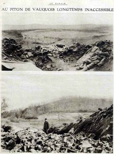 "WW1, Western Front, France: ""The peak of Vauquois inaccessible for a long time."""