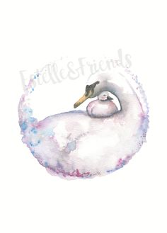 Watercolour Swan print300GSM textured acid free paperShipped in a stiff envelope with plastic protective sleeve and additional card to reduce risk of product getting damaged in transit....