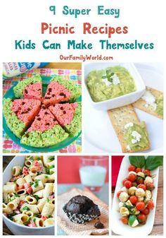 It's picnic season, and I love making easy picnic recipes kids can make too. While I could throw a couple of sandwiches in a basket, it�s more fun if I let my the little help me prep. I know it can get a little messier but here's the secret, shhh... Keep