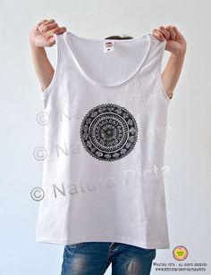 Mandala T-shirt-Mandala zen yoga women by naturapicta on Etsy