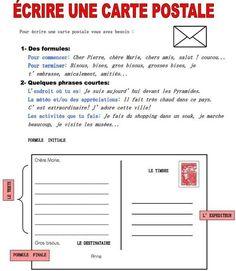 Écrire+une+carte+postale