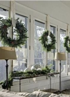 Classy Christmas Window Decor Ideas That Looks Elegant 08 Farmhouse Christmas Decor, Christmas Home, Christmas Windows, Christmas Window Wreaths, Christmas Ideas, Apartment Christmas, French Country Christmas, Merry Christmas, Southern Christmas