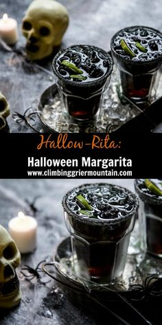 Make Halloween festive and fun by serving a Hallow-Rita: Halloween Margarita! Halloween Cocktails, Halloween Food For Party, Holidays Halloween, Happy Halloween, Halloween Treats, Adult Halloween Drinks, Halloween Shooters, Halloween Dishes, Halloween Prop