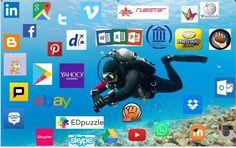 """El 'Homo Digitalis' de Miriam Pintos y su reflexión: Desde mi punto de vista el homo digitalis es como un buzo, ya no se trata de navegar en la red, sino de bucear bien equipado (en la función docente equipamiento=formación) buscando y seleccionando las herramientas más funcionales a nuestras necesidades. En la imagen he compartido algunos aplicativos que uso cotidianamente tanto en mi vida laboral como particular"""". #Cdigital_INTEF"""