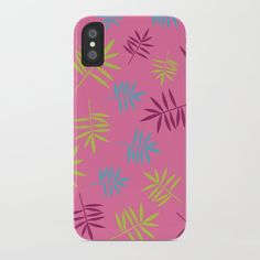 Bright Tropical Palm Leaves Pattern iPhone Case by peladesign Iphone 8 Plus, Iphone 11, Iphone Cases, Printed Tees, Print Design, Stationery, Greeting Cards, Tropical, Bright