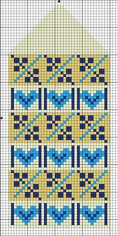 This Pin was discovered by Юли Knitted Mittens Pattern, Fair Isle Knitting Patterns, Knitting Charts, Knit Mittens, Knitting Stitches, Knitting Designs, Knitting Projects, Crochet Chart, Crochet Patterns