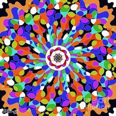 Mandala Color Burst by Caroline Street Mandala Coloring, Mandala Art, Fine Art America, Artworks, Digital Art, Instagram Images, Greeting Cards, Design Inspiration, Wall Art