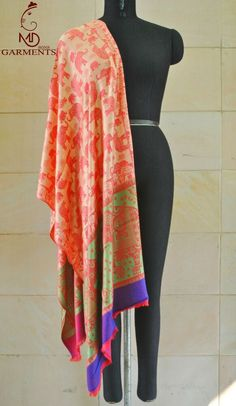 Shades of Kashmiri Indian Collection Woman's Pashmina Kashmir Scarf Wraps Shawl elephant print Shrug red Shawl Wedding Wrap Scarf Jamawar 1 Dhoti Mens, Red Shawl, Dupion Silk, Wedding Wraps, Traditional Fashion, Elephant Print, Pashmina Scarf, Shawls And Wraps, Really Cool Stuff