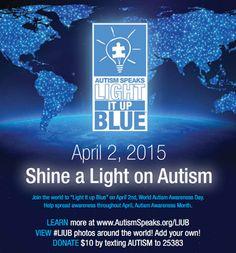 AUTISM SPEAKS: World Autism Awareness Day is April 2, 2015!