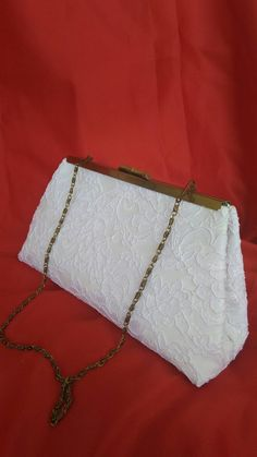 White ivory off white floral lace summer wedding evening bridal clutch PURSE BBsCustomClutches by BBsCustomClutches on Etsy
