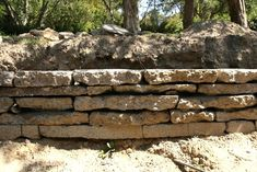 recycled concrete retaining wall - Google Search