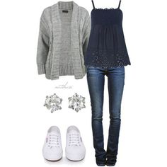 #34;Comfy Casual School Outfit#34; by natihasi on Polyvore