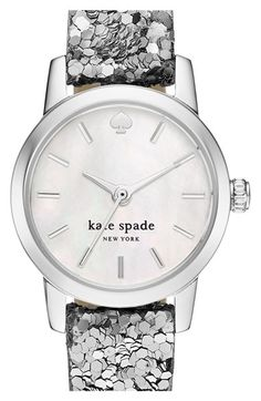 kate spade new york 'tiny metro' embellished leather strap watch, 20mm available at #Nordstrom