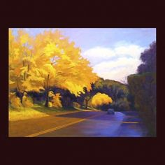 up the road, fall