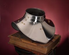 gorget , made from stainless steel