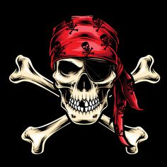 Pirate Tattoo, Pirate Skull Tattoos, Pirate Art, Pirate Life, Skull Artwork, Skull Drawings, Jack Sparrow Tattoos, Lion Illustration, Skull Wallpaper