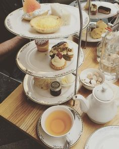 Experienced my first #hightea today. And yes that's another tiered tray behind mine because we had 3 at our table #nosharing #europeanvacation #london #westminsterabbey by jenniferfancher44