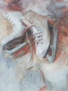 Ice skates (2017) Pastel drawing by Silja Salmistu | Artfinder