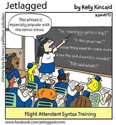 So how'd YOU get this trip?... flight attendant humor, Jetlagged
