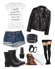 """""""Tomorrowland"""" by jessicamallot on Polyvore featuring H&M, ABS by Allen Schwartz and OPI"""
